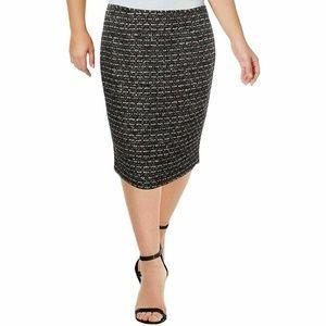 Calvin Klein 16 Black Straight Skirt 6AP77